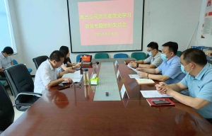 信融典当党支部召开 党史学习教育专题组织生活会
